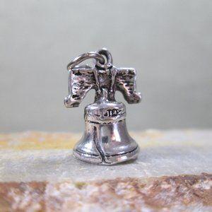 Sterling Silver Charm  LIBERTY BELL  Philadelphia